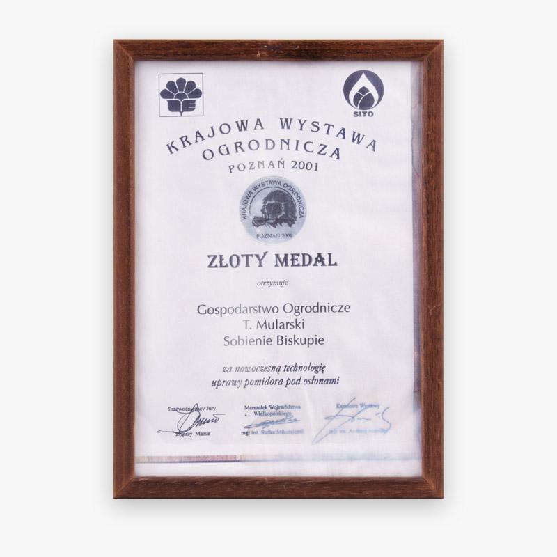 Złoty medal Poznań 2001