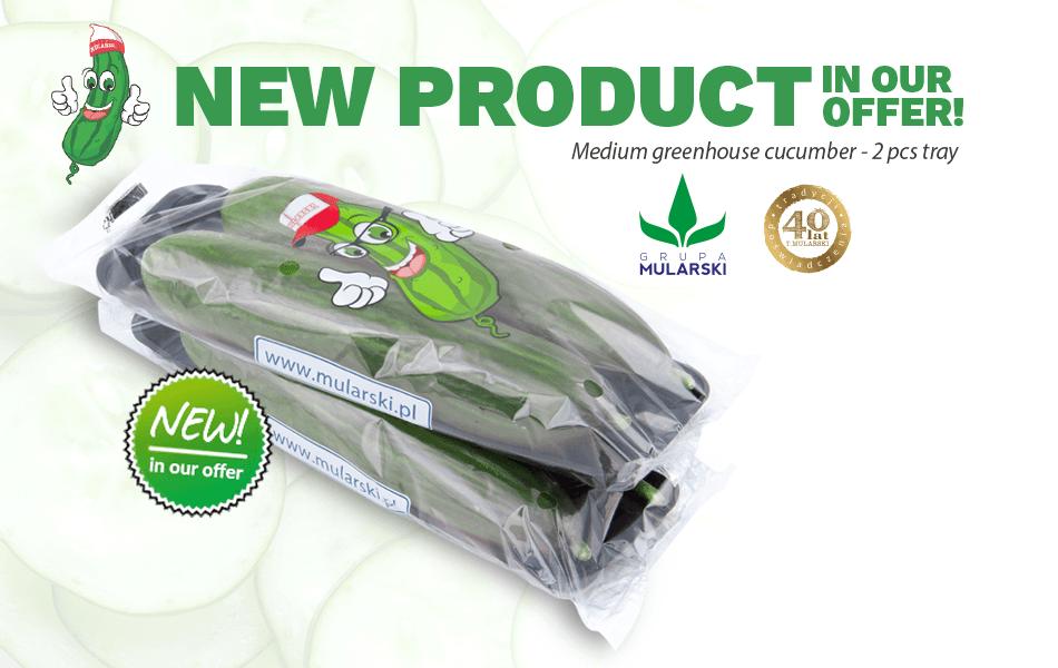 New product: medium greenhouse cucumber