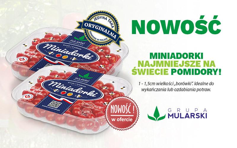 Nowość! Miniadorki, najmniejsze pomidory naświecie.